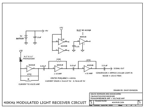 Single IC forms sensitive modulated light receiver