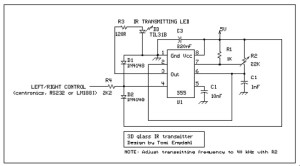 Simple IR transmitter circuit