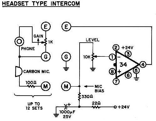 Headset type intercom