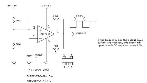 Precision ultra low power oscillator