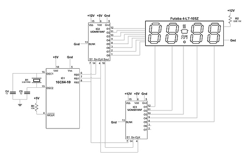 PIC Vacuum Fluorescent Display Interface