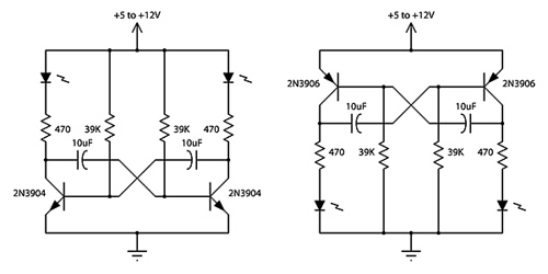 2 Transistor LED Flasher