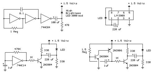 Assorted LED circuits
