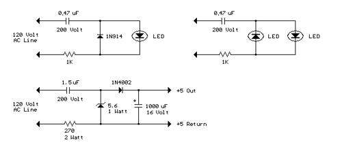 AC Line Powered LEDs