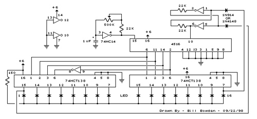 Expandable 16 Stage LED Sequencer