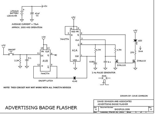 Flashing LED advertising badge 1