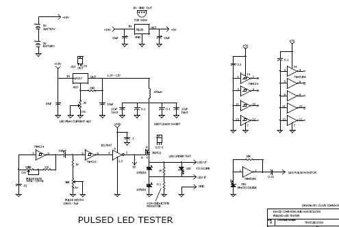 Pulsed LED test circuit