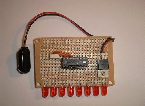 PIC16F84 LED chaser