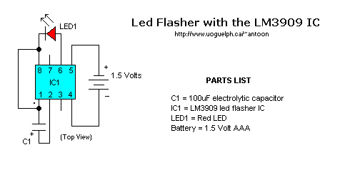 LM3909 LED flasher