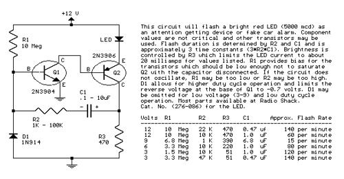 Two Transistor LED Flasher
