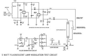 5W fluorescent lamp intensity modulator