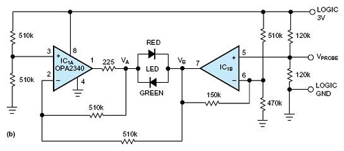Simple logic probe uses bicolor LED