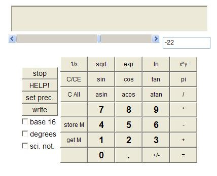 Constructive Reals Calculator
