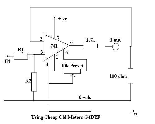 Build a Test Meter using Cheap 0-1mA meter