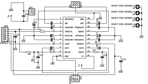 Six-channel Mixer and Amplifier