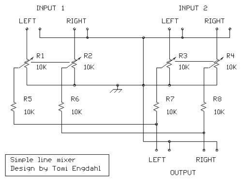 Simple line mixer