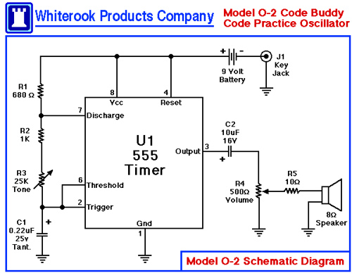 Morse Code Buddy Model O-2 Code Practice Oscillator