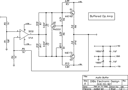 Buffered op amp circuit.