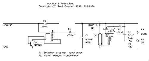 Mini pocket stroboscope