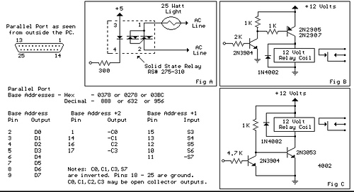 Parallel Port Relay Interface