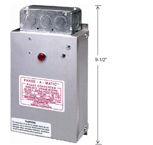 Static Phase Converter Application Notes