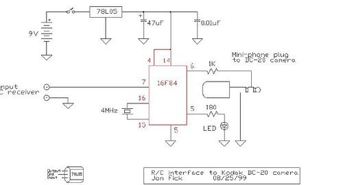 Kodak DC-20 camera interface