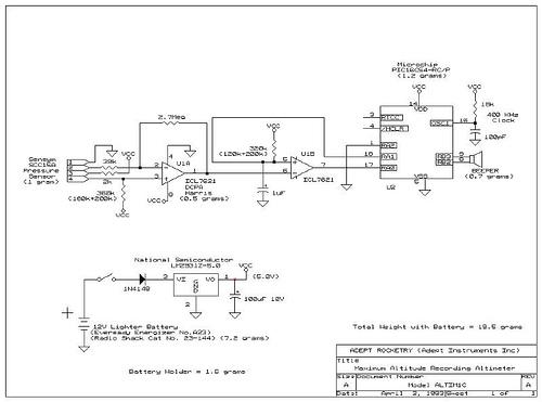 Pressure Sensor-Based Altimeter Circuit