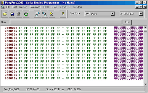 PonyProg serial device programmer
