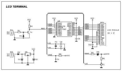 PIC16F84 debugging terminal