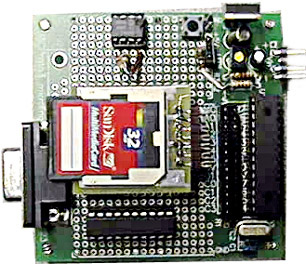 MMC to PIC16F876 circuit diagram