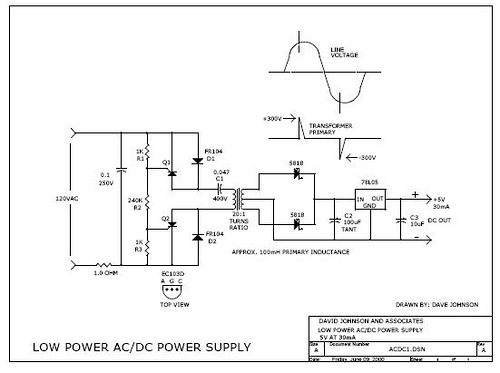 Miniature Isolated Ac/Dc Power Supply