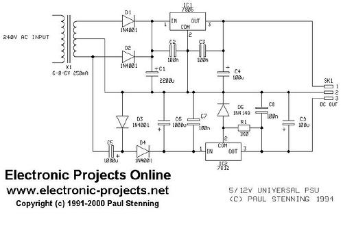 Power supply for eprom programmer or emulator