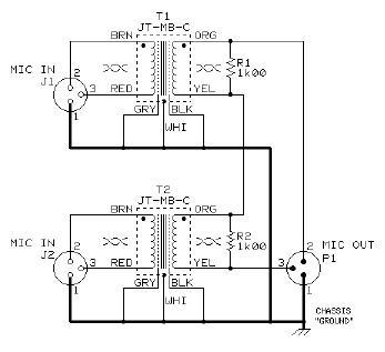 Dual JT MB C Microphone Combining Circuit