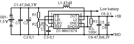 Make 1.5V to 5V converter