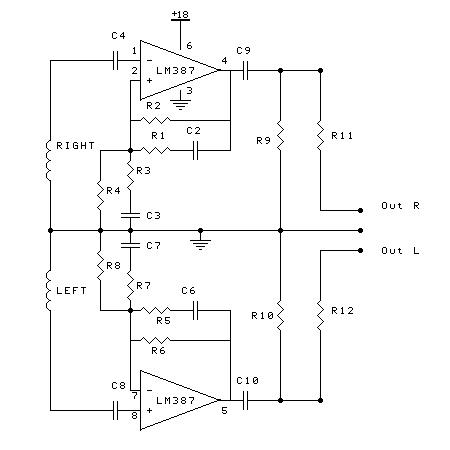PRE-AMP HEAD CASSETTE DENGAN LM 387