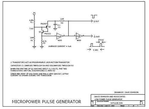 Micropower pulse generator