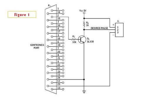 Centronics port generates narrow pulse widths