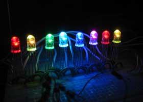 PIC16F628 Serial 8 RGB LED PWM Controller