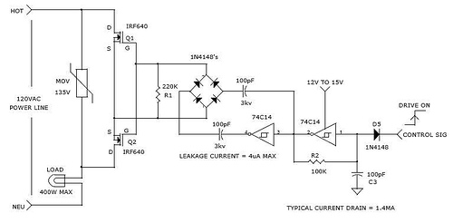 CHARGE COUPLED BI-DIRECTIONAL POWER MOSFET RELAY