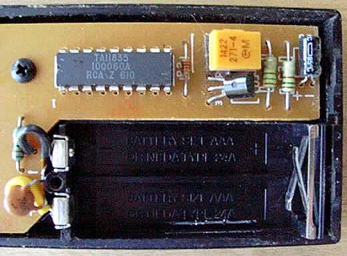 Inside TV Remote Control