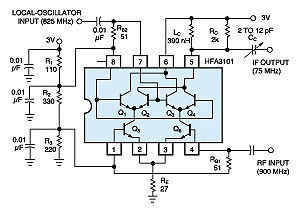 900-MHz down converter consumes little power