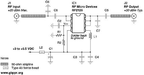 One Watt 2.45 GHz Linear Amplifier