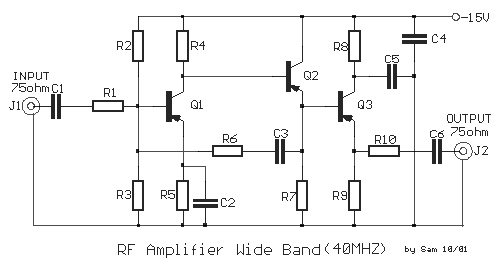 40 MHz Wideband RF Amplifier