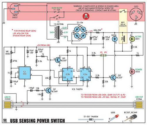 USB-Sensing Mains Power Switch