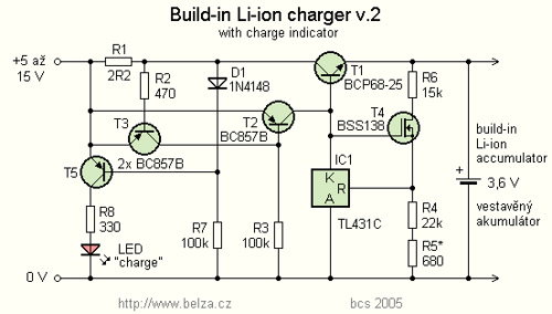 Li ion Battery Charger for Mobile phone by TL431