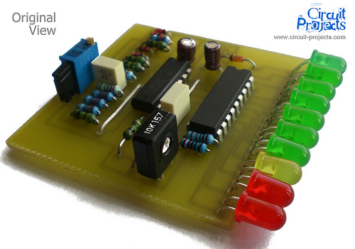 10 LED VU Meter Project by LM3915 and LM324