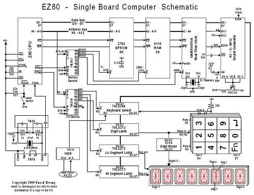 EZ80 single board computer schematic