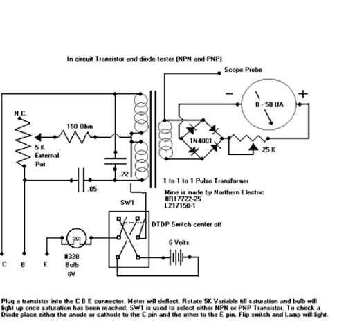 In-Circuit Circuit Transistor Tester