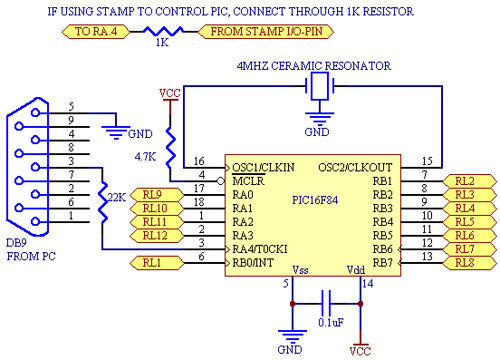 PIC16F84 Serial I/O-expander
