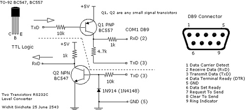 Simple RS232C Level Converter